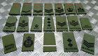 Genuine British Forces OD Green Rank Slide Various Cadet ACF RAF RN - Assorted