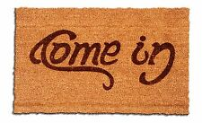Come In, Go Away Laser Engraved Welcome Mat, 100% Natural Coir Fiber
