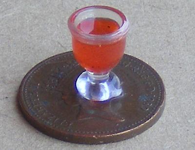 1:12 Scale Glass Of Tomato Juice Tumdee Dolls House Pub Bar Accessory Drink w