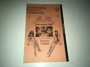 FAHRENHEIT 451 Orig Movie Pressbook Truffaut Julie Christie Ray Bradbury Sci-Fi