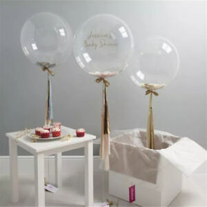 "10/""-36/"" Transparent Clear Balloons Birthday Wedding Party Decor No Wrinkle JD"