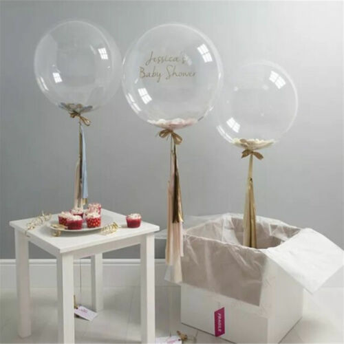 """1pc 10/""""-36/"""" Transparent Clear Balloons Birthday Wedding Party Decor NO SP"""