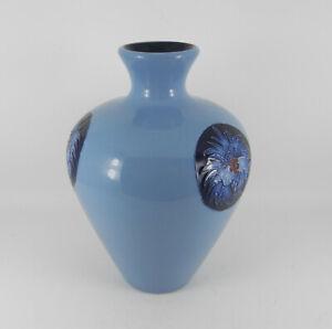 Rare-MOORCROFT-Three-Williams-Rare-Blue-Flames-Limited-Vase-Bossons-amp-Box