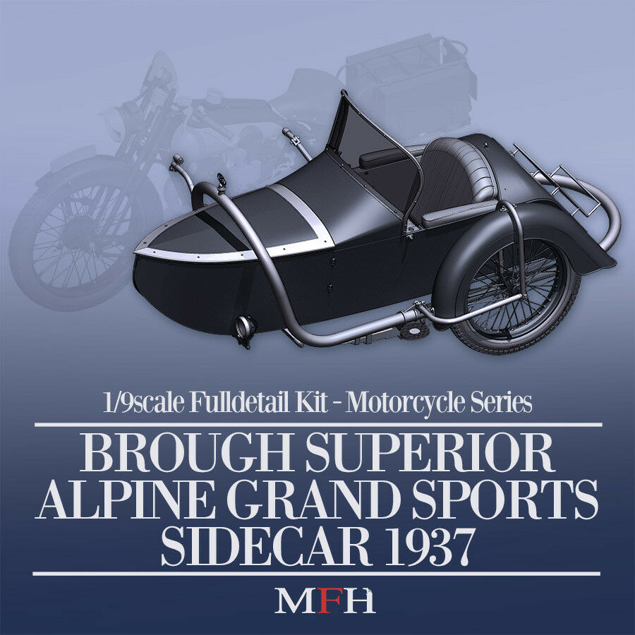 Model Factory Hiro K663 1 9 Brough Superior AGS Sidecar Fulldetail Kit