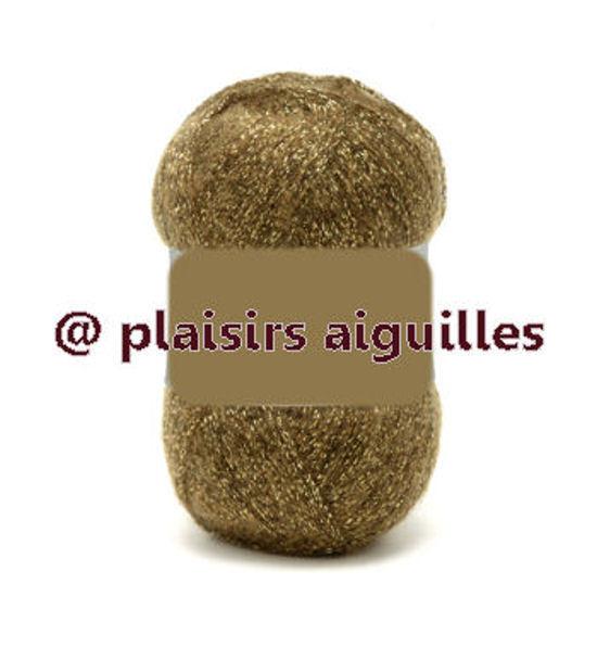 10 Pelotes de laine STRASS LIGHT 25 G bronze neuves