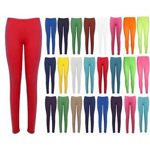LADIES ANKLE LENGTH STRETCH FIT COTTON LEGGING IN BLACK COLOURS SIZES 8-20