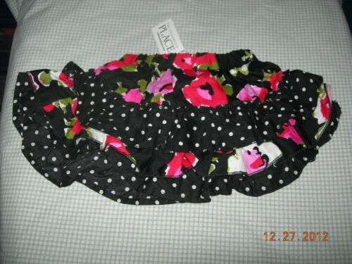 CHILDRENS PLACE Flowers /& Dots Tiered Ruffle Skirt w//Snap Closure Panty