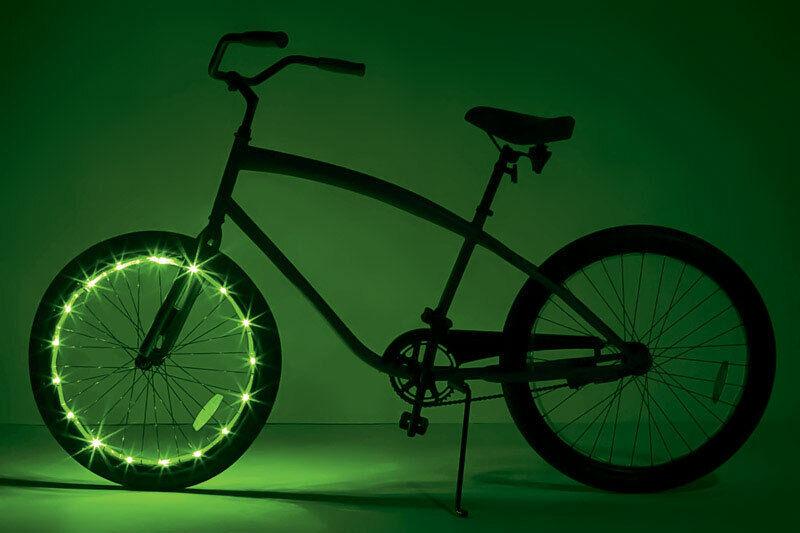 4 Pcs Super Bright Bicycle Tire Bike Wheel Spoke LED Safety Light Gree JCZ