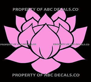 Vrs lotus flower sacred namaste hot yoga peace meditation car vinyl image is loading vrs lotus flower sacred namaste hot yoga peace mightylinksfo
