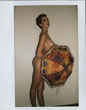 OOAK Original Instax Wide Polaroid Photo - Nude Naked Woman Brunette Short Hair