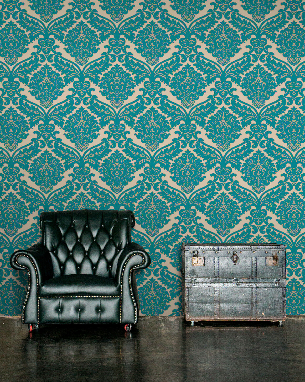 Vlies Tapete Barock Muster Ornament Metallic Effekt Turkis Gold Klassisch Ebay