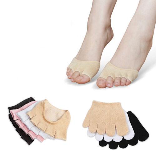 1Pair Cotton Sports Antibacterial Health Care Five Finger Toe Foot Care Socks~