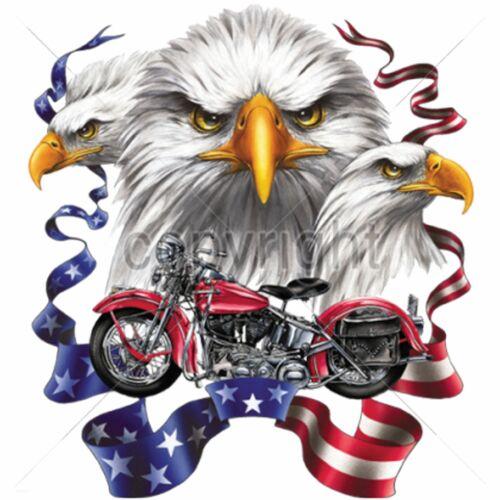 T Shirt Batik grau Vintage HD Biker Chopper/&Old Schoolmotiv Modell Eagle Pan