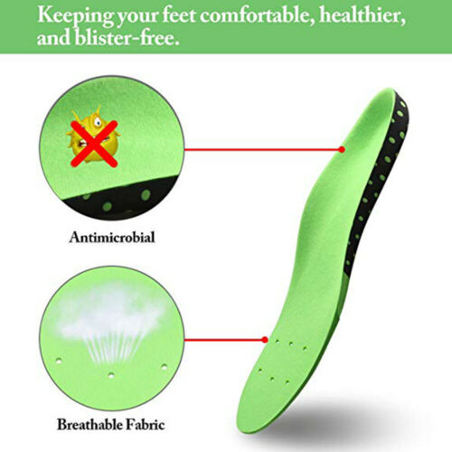 Orthotic Insoles High Arch Heel Gel Support Plantar Fasciitis Flat Foot Feet Pad