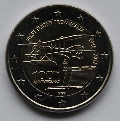MALTA 2 € commemorative euro coin 2015 Centenary of the first flight from Malta