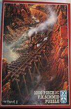 F X Schmid 1000 Piece Jig Saw Puzzle Black Canyon Express