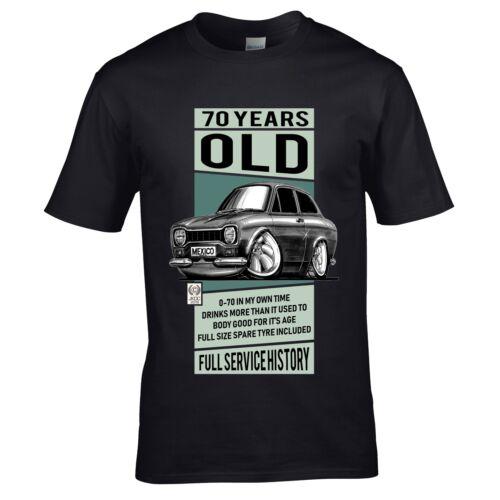 Funny Personalised ANY AGE Old Koolart Classic MK1 Escort Car mens t-shirt gift