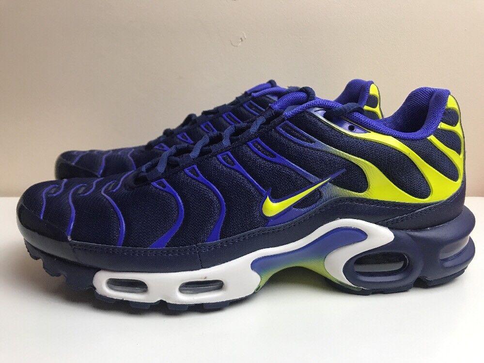 Nike Max Air Max Nike Plus TN Baskets Homme Bleu Jaune Eur 43 852630 402 7ff783