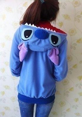 Disney Stitch Hoodie/Coat/Jumper/Hooded Sweater Pokemon Cosplay Kigurumi Costume