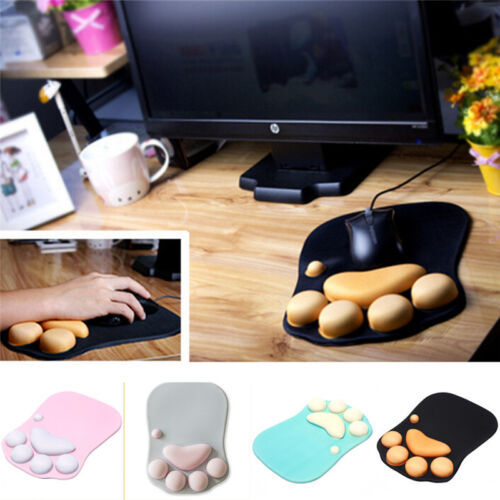silicone thickening mouse wrist pad cat paw soft wrist rest wrist cushion desk F