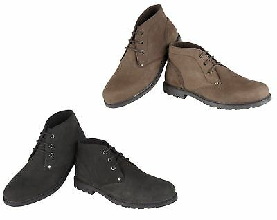 Mens Real Leather Nubuck Ankle Boots Casual Winter Desert Work Boot Shoes Eine Hohe Bewunderung Gewinnen