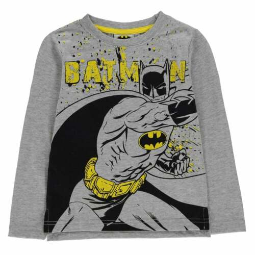 Character Boys T-shirt Long Sleeve Crew Neck Casual Tee Top Clothing Sport