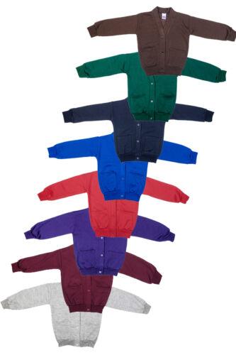 Girls School Uniform Warm Fleece Sweatshirt Cardigan Pack Of 2 Size 22-36