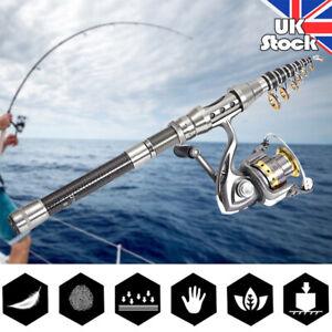Details about 150 240cm Portable Telescopic Mini Pocket Fishing Rod Pole Metal Reel Travel