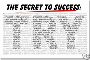 The-Secret-to-Success-TRY-School-Motivational-POSTER