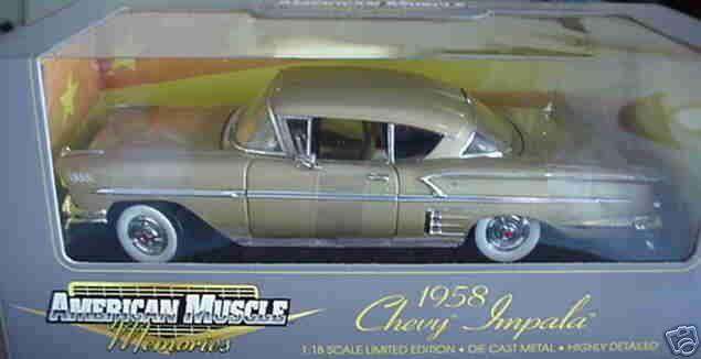 precios mas bajos 1958 Chevy Impala Impala Impala oro le 1 18 Ertl American Muscle 32291  diseñador en linea