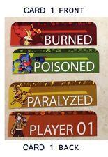 Pokemon Card Game Status Markers Poison Burn Coin Toss EXart Toxicroak Electabuz