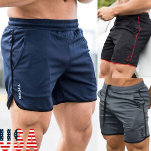 Men-039-s-Sports-Training-Bodybuilding-Summer-Shorts-Workout-Fitness-GYM-Short-Pants