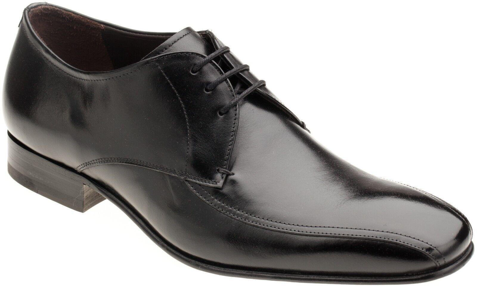 Mezlan Herren 12920 Schwarzes Leder Oxford Formelle Schuhe