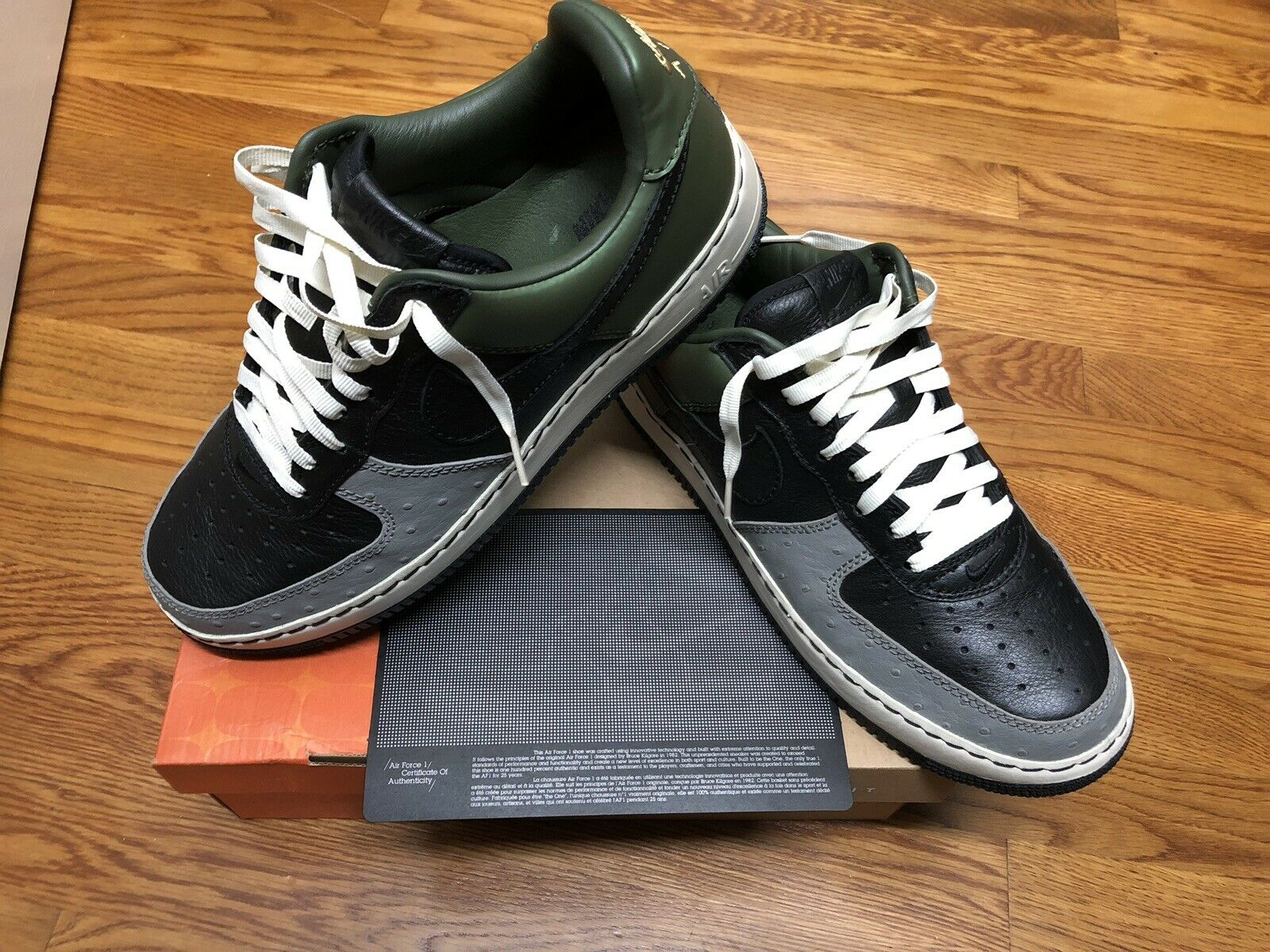 Nike Air Force 1 AF1 Low INSIDEOUT IO UN-MITA UNMITA BLACK OLIVE Size 12