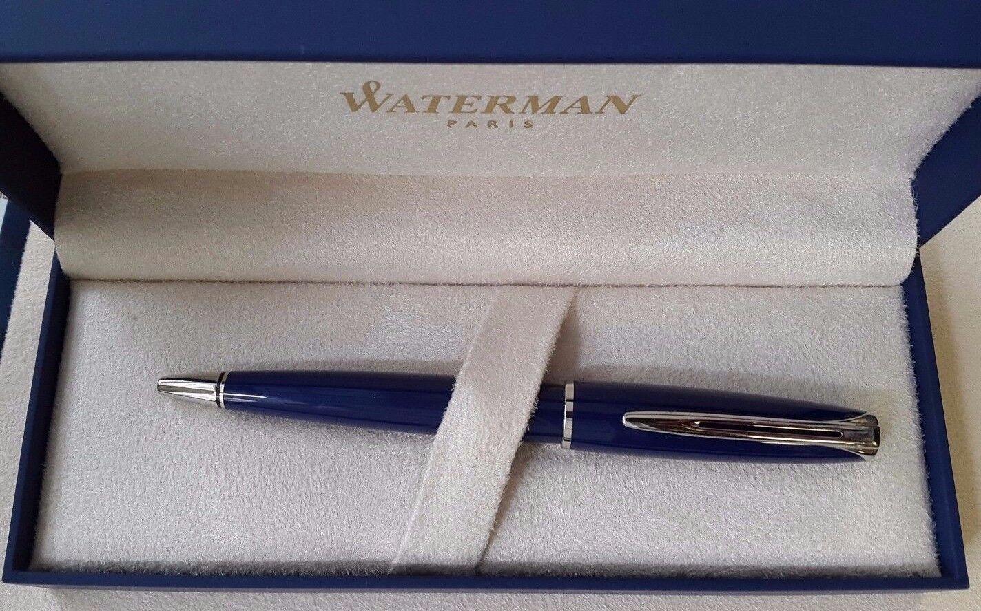 Waterman Waterman Waterman CHARLESTON Kugelschreiber blau, Rarität für Sammler | Sehr gute Qualität  543c46