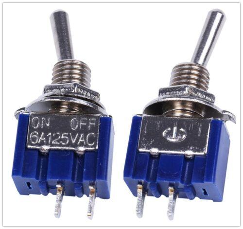 2 PIN SPST On-Off 2 posición 250VAC Mini Interruptores MTS-101 50 un