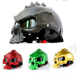 Masei-489-Skull-Motorcycle-Helmet-Motorbike-HalfFace-Helmet-Dual-Use-DOT-Helmets