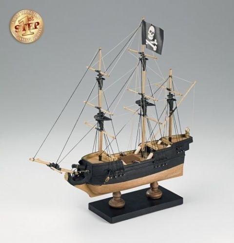 AMATI KIT 1 135 PIRATE FARTYG FACILE MONTAGGIO LUNGHEZA 28 CM ART 600 01