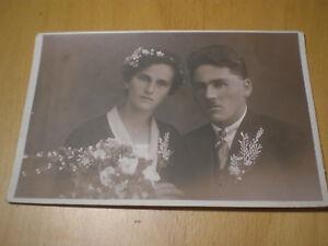 sehr altes Foto Hochzeit Hochzeitskleid Mode Brautstrauss beachten - St. Anna am Aigen, Österreich - sehr altes Foto Hochzeit Hochzeitskleid Mode Brautstrauss beachten - St. Anna am Aigen, Österreich