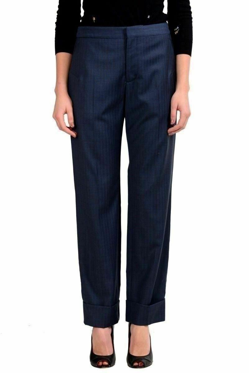 Maison Margiela 1 Women's Striped 100% Wool Dress Pants US 4 IT 40
