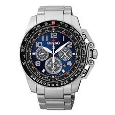 Seiko Men's Solar SSC275 Dress Prospex Pilot Chronograph Stainless Steel Watch