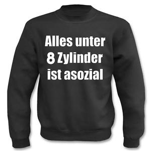 Pullover Alles Unter 8 Zylinder Ist Asozial I Spruche I Lustig I