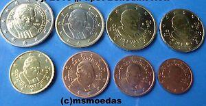 Details Zu Vatikan Kms 8 Euro Münzen 2010 Mit 1 Cent 2 Euro Euromünzen Papst Benedikt Xvi