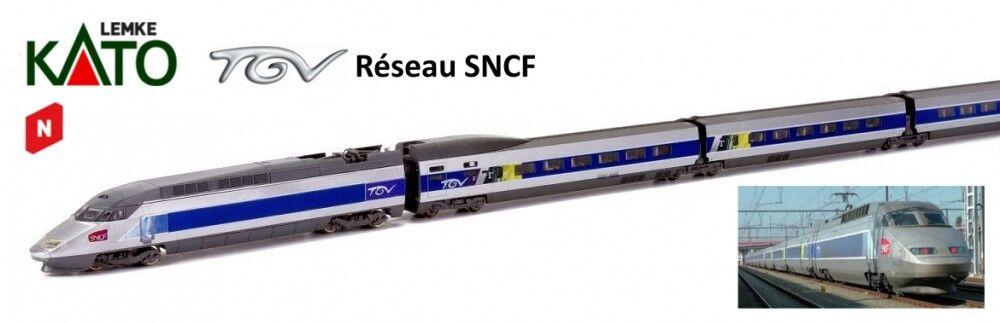 Spur N-Kato TRIEBZUG TGV Reseau 10 pezzi -- 10924 NUOVO