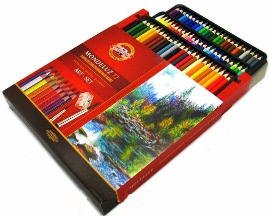 Matite colorate acquarello KOH-I-NOOR MONDELUZ 72 COLORI 3714 SUPER PREZZO