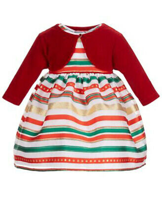 clothes girl long sleeve top skirt set size 3 with bow red