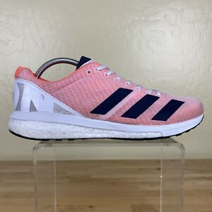 Adidas-Adizero-Boston-8-Boost-Running-Shoes-Mens-Size-10-Orange-White