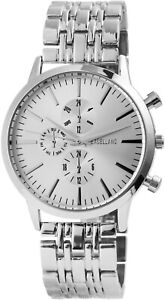 Excellanc-Herrenuhr-Silber-Analog-Chrono-Look-Metall-Armbanduhr-X-2800036-004