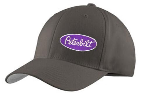 TRUCKER HAT FLEXFIT FITTED CAP RIG TRACTOR PETERBILT PETE DIESEL GREY