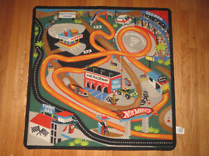 Hot Wheels Cars Trucks Monster Demolition Field Game Rug Mat 40 X 40